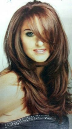 long hair with side bangs and face framing layers haircuts for ...