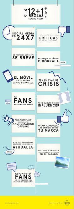 Consejos breves y directos sobre #sociamledia #rrss #infografia