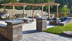 Banlieue Raffinée Landscape Plans, Garden Landscaping, Acre, Pergola, Outdoor Structures, Outdoor Decor, Patio Ideas, Landscape Fabric, Landscape Planner