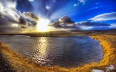 Iceland Travel - HDR Iceland Landscape Wallpapers - Sunrise over the Lake Wallpaper - Iceland Landscape, Iceland Tourist View Wallpaper, Nature Wallpaper, Desktop Wallpapers, Iceland Landscape, Seen, Landscape Wallpaper, Beautiful Sunrise, Beautiful Morning, Iceland Travel