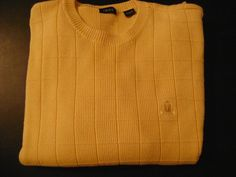 Check out New Items Every Week @ Every2ndCounts!! Follow Us!!  IZOD Sweater Crest Logo Mens size XL pull over golf cotton #IZOD #Crewneck