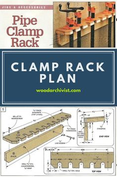 Clamp Rack Plans - Workshop Solutions Projects, Tips and Tricks   WoodArchivist.com