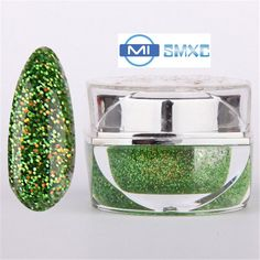 MISMXC 20ML 0.8OZ High Quality Soak Off UV Gel Shiny Colors Glitter Powder Nail Art Builder Gel 073 #Affiliate