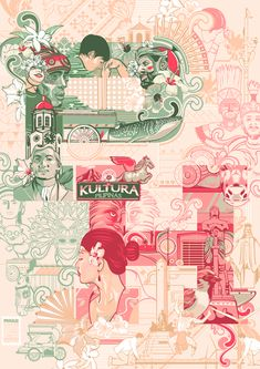 Kultura Ng Pinas / PH Culture by Vincent Rhafael Aseo, via Behance Filipino Art, Filipino Culture, Cultura Filipina, Character Concept, Character Design, Notebook Drawing, Philippine Art, Philippines Culture, Graphic Design Posters