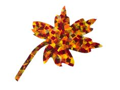 All you need is some modge podge, poster board and #SmartFab to make this festive #fall leaf!