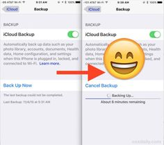 Fixing the last backup could not be completed error to iCloud in iOS