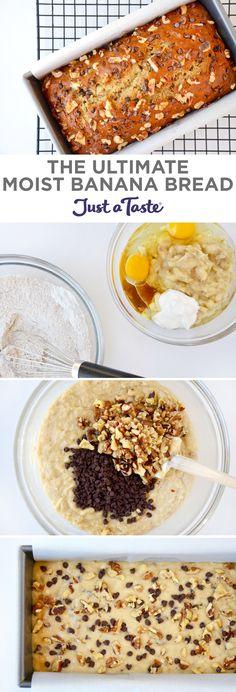 The Ultimate Moist Banana Bread recipe justataste.com #recipe #bananabread