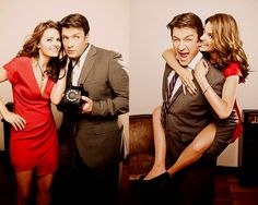 Nathan Fillion and Stana Katic, from #Castle, my latest obsession.