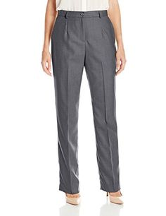 Pendleton Women's True Fit Trousers, Grey Mix Worsted Flannel, 8 *** Read more  at the image link.