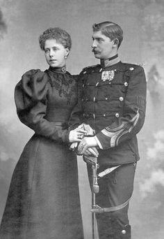 ca. 1893 Crown Prince & Princess of Romania detint