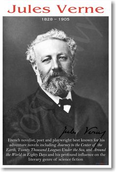 vintage everyday: Photographs of the Famous by Felix Nadar Jules Verne, ca. 1885 Jules Gabriel Verne was a French novelist, poet, and playwright best known for his adventure novels and his profound influence on the literary genre of science fiction. Jules Verne, Science Fiction, Book Writer, Book Authors, Michel Strogoff, Adventure Novels, Leagues Under The Sea, Around The World In 80 Days, Writers And Poets