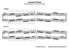 Printable Piano Lesson Book: Piano Lesson Three