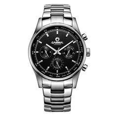 49.16$  Buy here - http://alismk.worldwells.pw/go.php?t=32675309356 - Men's watches Luxury classic wrist fashion business men quartz wristwatches leather band waterproof 100m  CASIMA #5114 49.16$