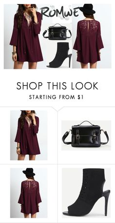 """""""ROMWE"""" by armina-saric ❤ liked on Polyvore featuring Cuero"""
