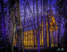 An illuminated glass chapel in the woods, ideal for woodland weddings. #weddingvenue #weddingchapel #weddingvibes Woodland Garden, Woodland Wedding, Chapel Wedding, Wedding Venues, Chapel In The Woods, Architectural Features, Weddings, Glass, Wedding Reception Venues