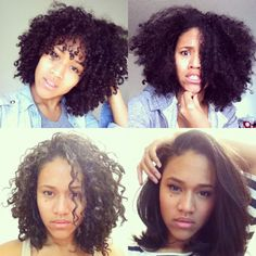 brazilian blowout for tight curls biracial hair before and after - Google Search