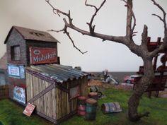 diorama old gas station 1:87
