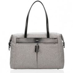 Knomo Curzon Shoulder Tote 15-inch - Grey