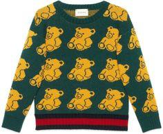 Children's bear jacquard sweater