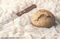 Mushroom Masala Stuffed Multigrain Bun / Masala Wheat Bun
