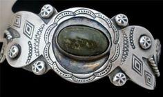 Vintage Fred Harvey Era Sterling Silver Cuff Handmade GZH Navajo Style Bracelet   eBay