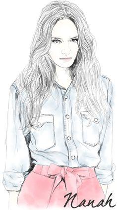 ilustração para meu site pessoal. by @nana Hiskell Soares