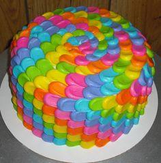 Rainbow cake my mom made!!!