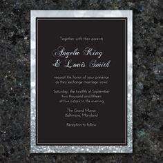 Silver Sparkle Printable Wedding Invitation  by 105DesignHouse