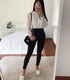 Classy outfit idea to copy ♥ For more inspiration join our group Amazing Things ♥ You might also like these related products: - Jeans ->. Casual Work Outfits, Business Casual Outfits, Professional Outfits, Mode Outfits, Stylish Outfits, Casual Dresses, Formal Outfit For Teens, Classy Outfits For Teens, Casual Attire