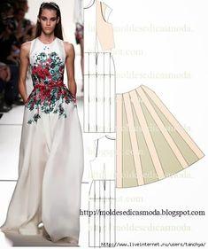 Мобильный LiveInternet Платье в пол с цветочным принтом. Моделирование. | tanchya - Дневник tanchya |