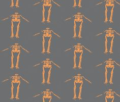 Assume the Position - BOO! fabric by susaninparis on Spoonflower - custom fabric