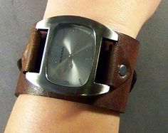 Leather Watch-Brown Watch-Wrist Watch-Women by 4MLeatherDesign