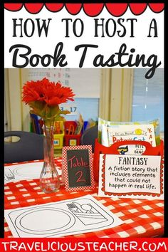 Book tastings are such a fun, engaging way to get students excited about reading! You can easily host a book tasting by using the printables from this product and gathering books from the following genres: Fairy Tales, Realistic Fiction and Fantasy #Literacy #Reading #BookTasting #Education #FictionBooks #Elementary #Primary