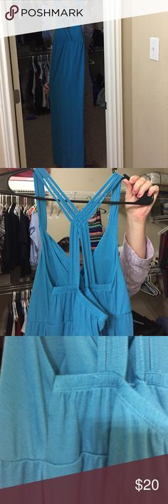 Very cute Long low cut  Beach dress  Cross through back very comfortable and great material in Amazing condition Never worn!! No Boundaries Dresses Maxi