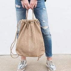 Sewing Clothes, Diy Clothes, Drawing Bag, Painted Bags, String Bag, Jute Bags, Fabric Bags, Nylon Bag, Cotton Bag