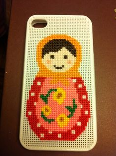 Funda para iPhone bordada por mí a punto de cruz 646a9c5990b87