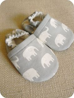 Because every little boy needs elephant shoes.