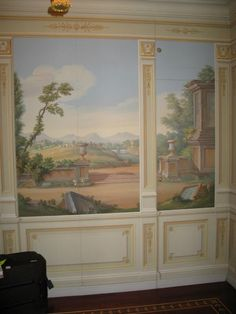 Mural Painting, Mural Art, Wall Murals, Traditional Decor, Traditional House, Stenciled Floor, Wallpaper Decor, Work Inspiration, Beautiful Wall
