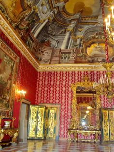 Royal palace Naples Italy