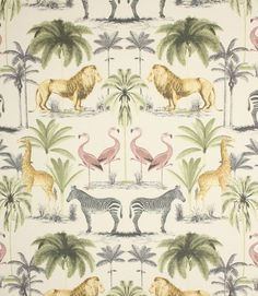 Colonial chic wallpaper.