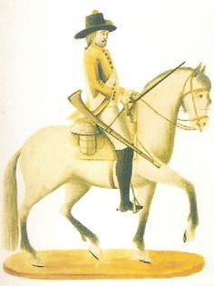 Caballería Provincial de Nueva España 1795 a caballo