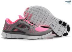 Womens 510643-603 Pearlized Pink Reflective Silver Sport Grey Nike Free Run 3
