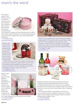 Gift Focus Magazine Issue 87 January / February 2015 featuring our Hummingbird Design Giftware for Mother's Day
