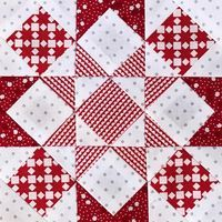 """Today's #splendidsampler block is """"Unity Star"""" by @vchristenson! I'm liking the red and white in this block! Thanks Vanessa!"""