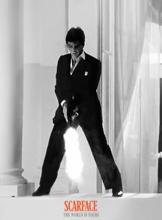 Al Pacino as Tony Montana / Scarface Scarface Quotes, Scarface Poster, Scarface Movie, Al Pacino, Movie Shots, I Movie, Carlito's Way, Mafia Crime, Jennifer Lawrence Pics