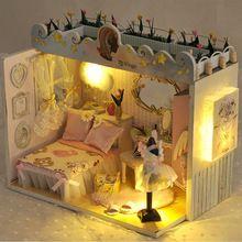 Diy Puppenhaus möbel das haus für puppen Buliding Dollhouses Modell Spielzeug puppenhaus miniatur Lernspielzeug Birtyday Geschenke(China (Mainland))