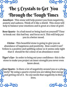 5 crystals for the tough times. Be True To Yourself, Create Yourself, Rose Quartz Meaning, Bad Mood, Tough Times, Grief, Meant To Be, Spirituality, Healing
