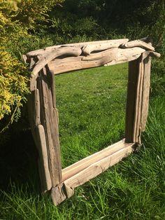 Wandspiegel - Wunderschöner Spiegel aus Treibholz/Schwemmholz  - ein Designerstück von Narrischguad bei DaWanda