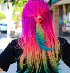 Beauty: Fantasy Unicorn Purple Violet Red Cherry Pink yellow Bright Hair Colour Color Coloured Colored Fire Style curls haircut lilac lavender short long mermaid blue green teal orange hippy boho ombré woman lady pretty selfie style fade makeup grey white silver trend trending multi confetti bob bottle blond blonde hairdresser hairdressers Pulp Riot