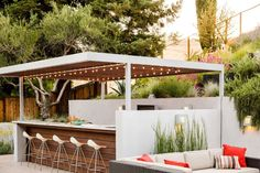 Bring the festivities outside with a fully-equipped bar.